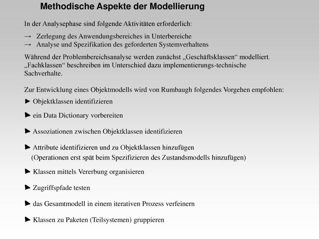 Methodische Aspekte der Modellierung