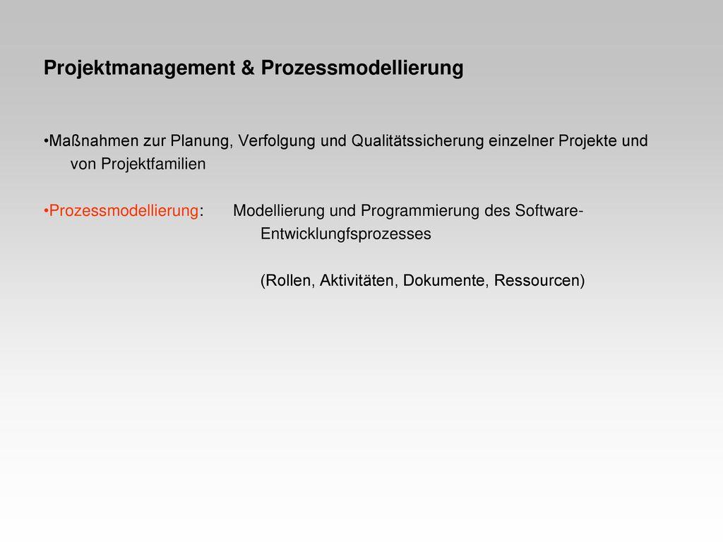 Projektmanagement & Prozessmodellierung