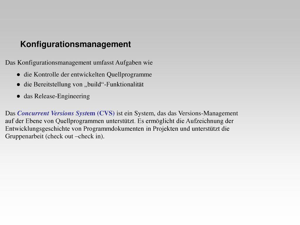 Konfigurationsmanagement