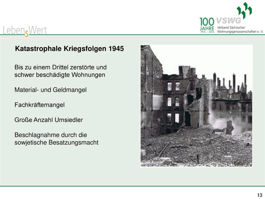 Katastrophale Kriegsfolgen 1945