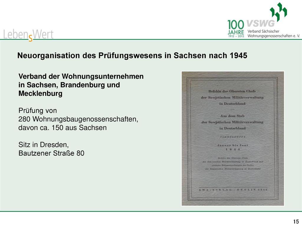 Neuorganisation des Prüfungswesens in Sachsen nach 1945
