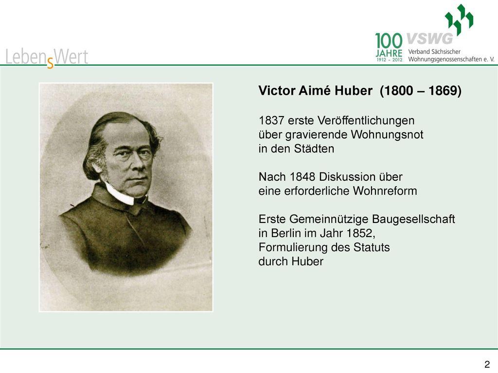 Victor Aimé Huber (1800 – 1869) 1837 erste Veröffentlichungen