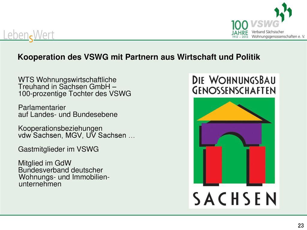 Kooperation des VSWG mit Partnern aus Wirtschaft und Politik