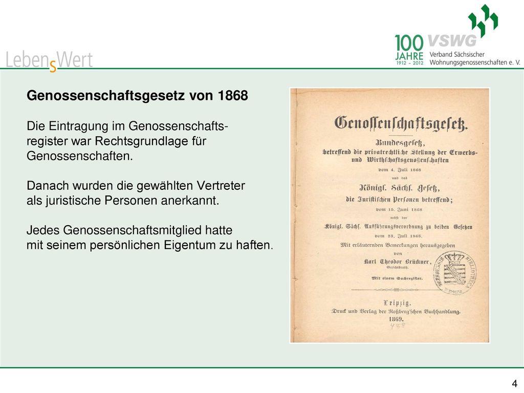 Genossenschaftsgesetz von 1868