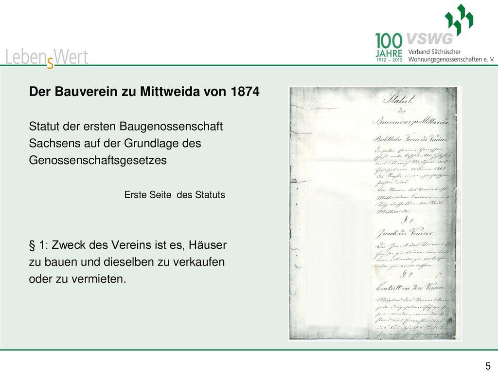 Der Bauverein zu Mittweida von 1874