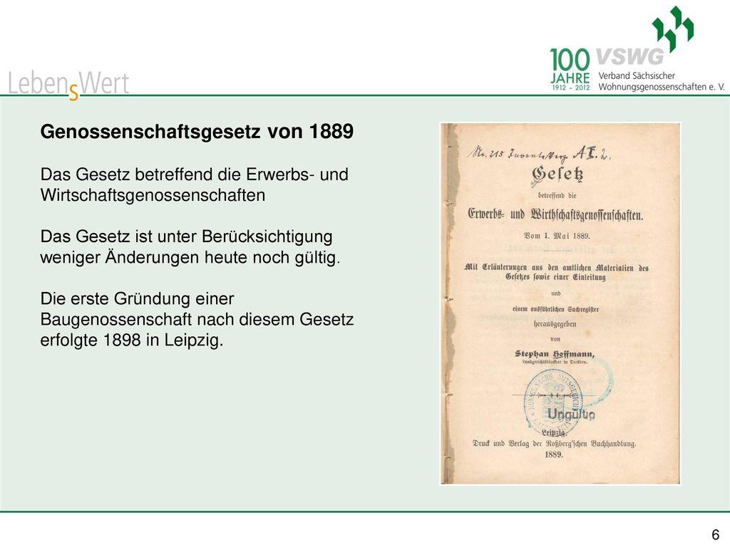 Genossenschaftsgesetz von 1889