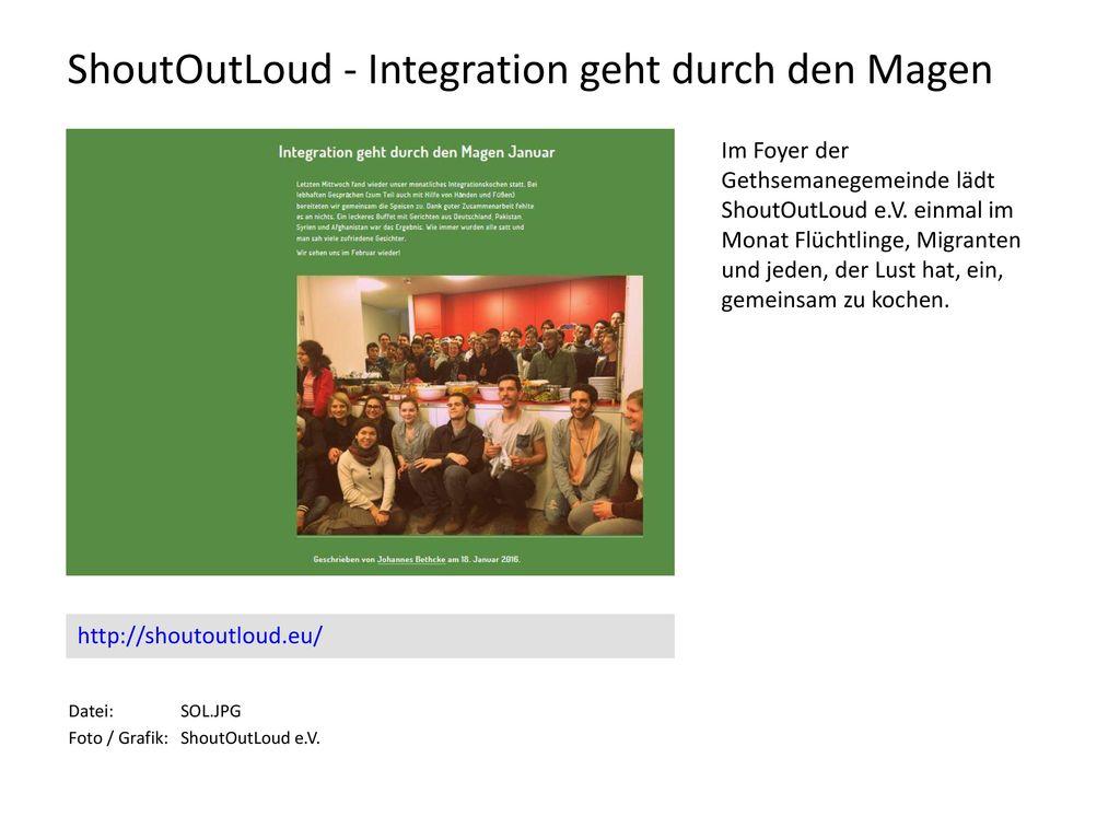 ShoutOutLoud - Integration geht durch den Magen