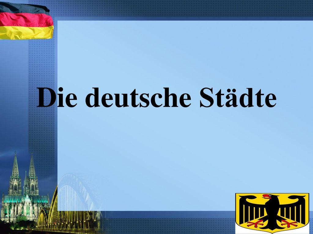 Die deutsche Städte