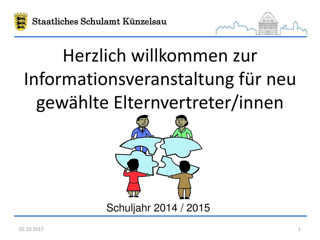 Herzlich willkommen zur Informationsveranstaltung für neu gewählte Elternvertreter/innen