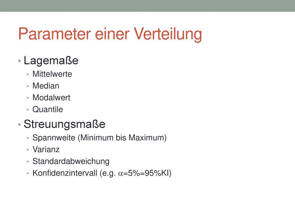 Parameter einer Verteilung