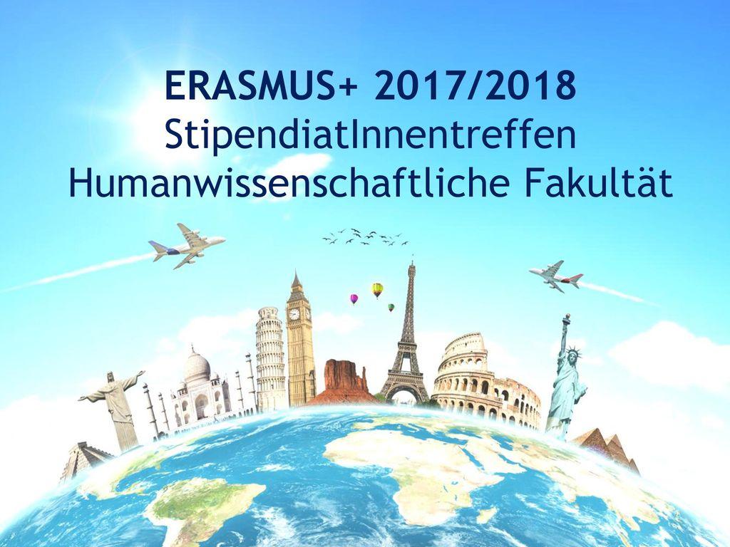 ERASMUS+ 2017/2018 StipendiatInnentreffen Humanwissenschaftliche Fakultät