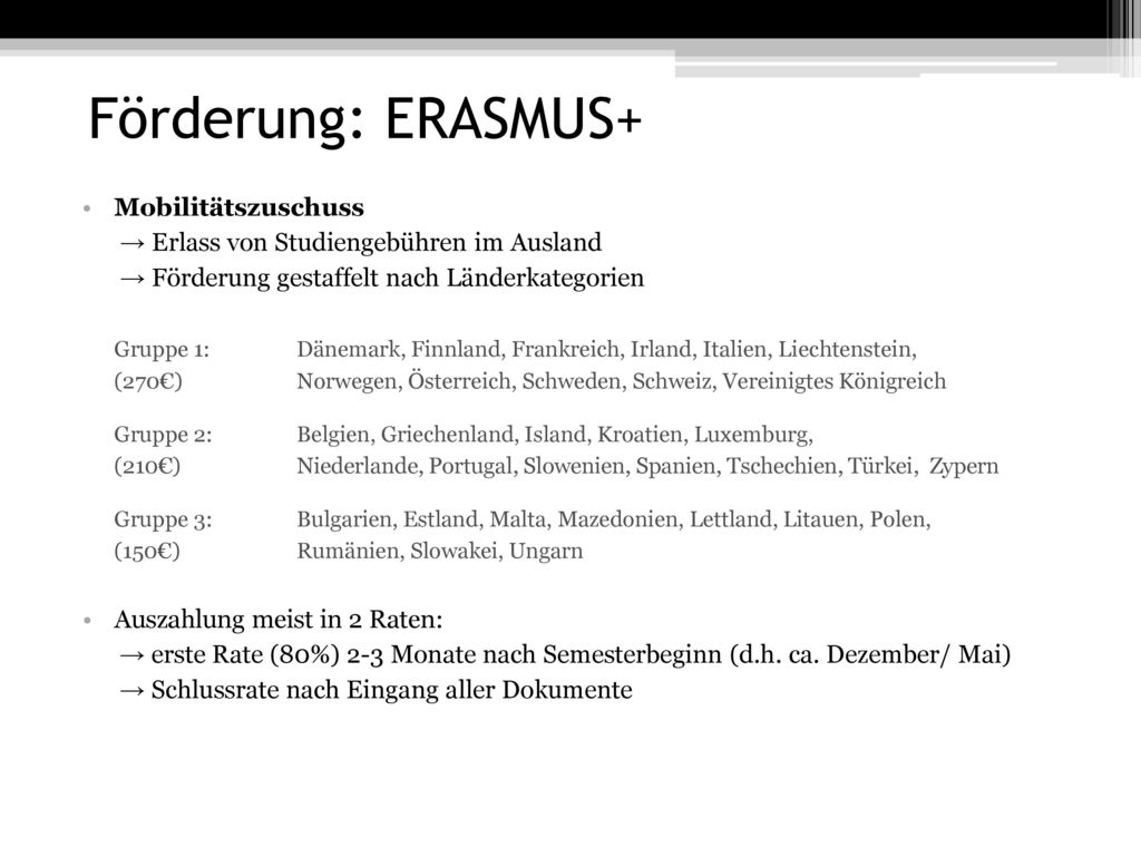 Förderung: ERASMUS+ Mobilitätszuschuss