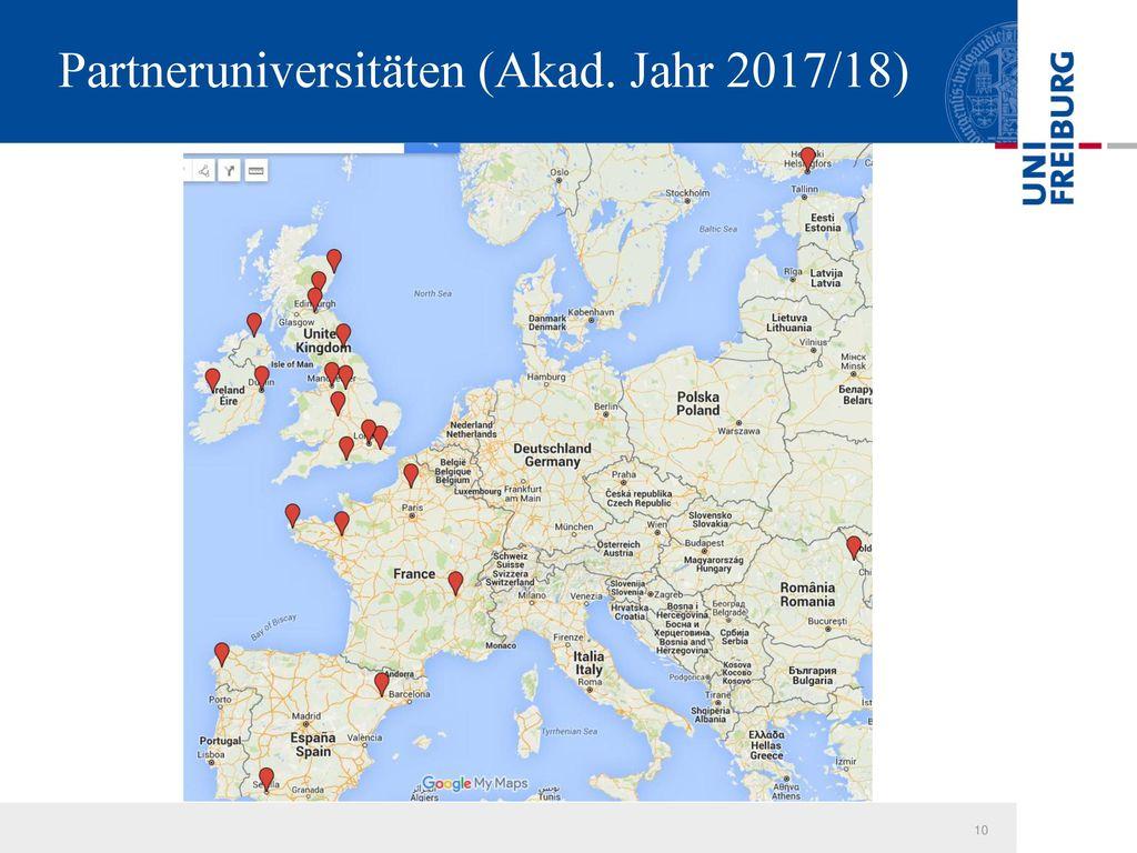 Partneruniversitäten (Akad. Jahr 2017/18)