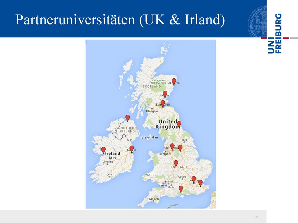 Partneruniversitäten (UK & Irland)