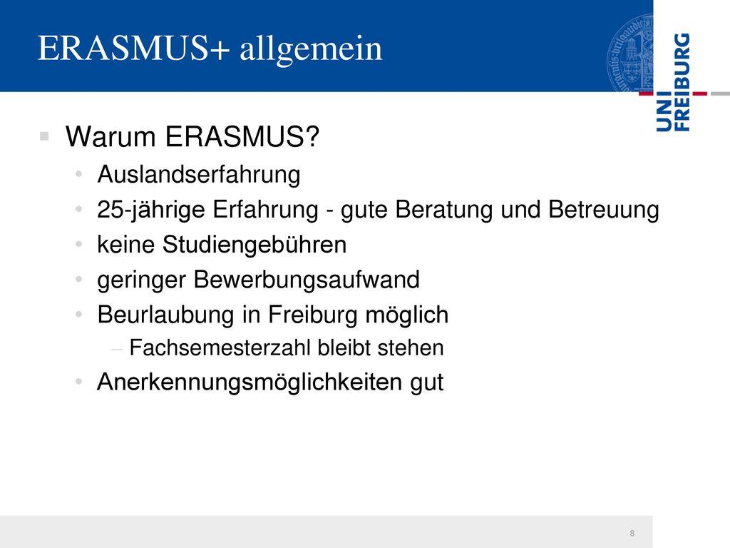 ERASMUS+ allgemein Warum ERASMUS Auslandserfahrung