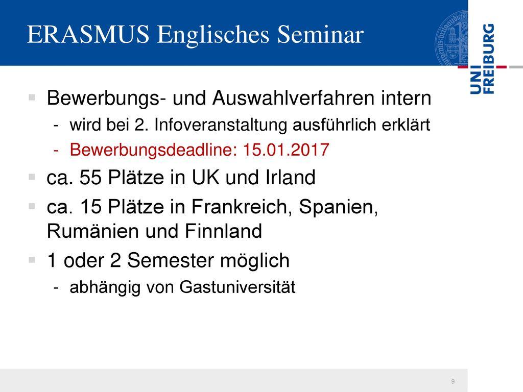 ERASMUS Englisches Seminar