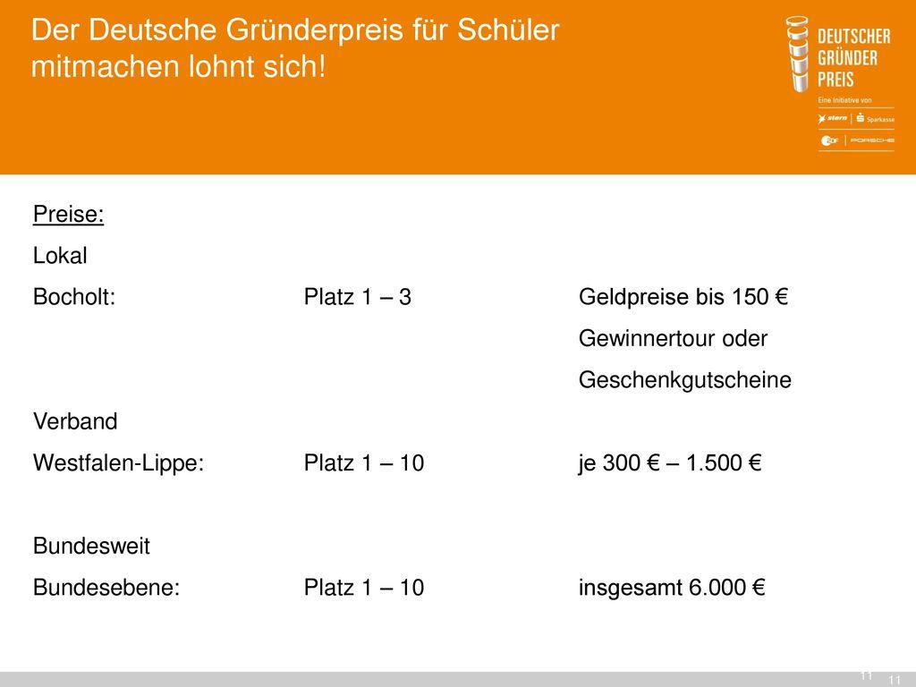 Der Deutsche Gründerpreis für Schüler mitmachen lohnt sich!