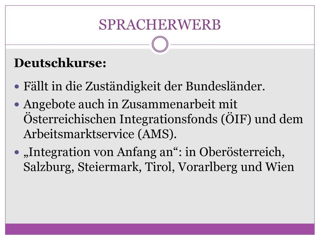 SPRACHERWERB Deutschkurse: