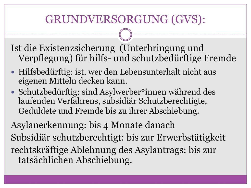 GRUNDVERSORGUNG (GVS):