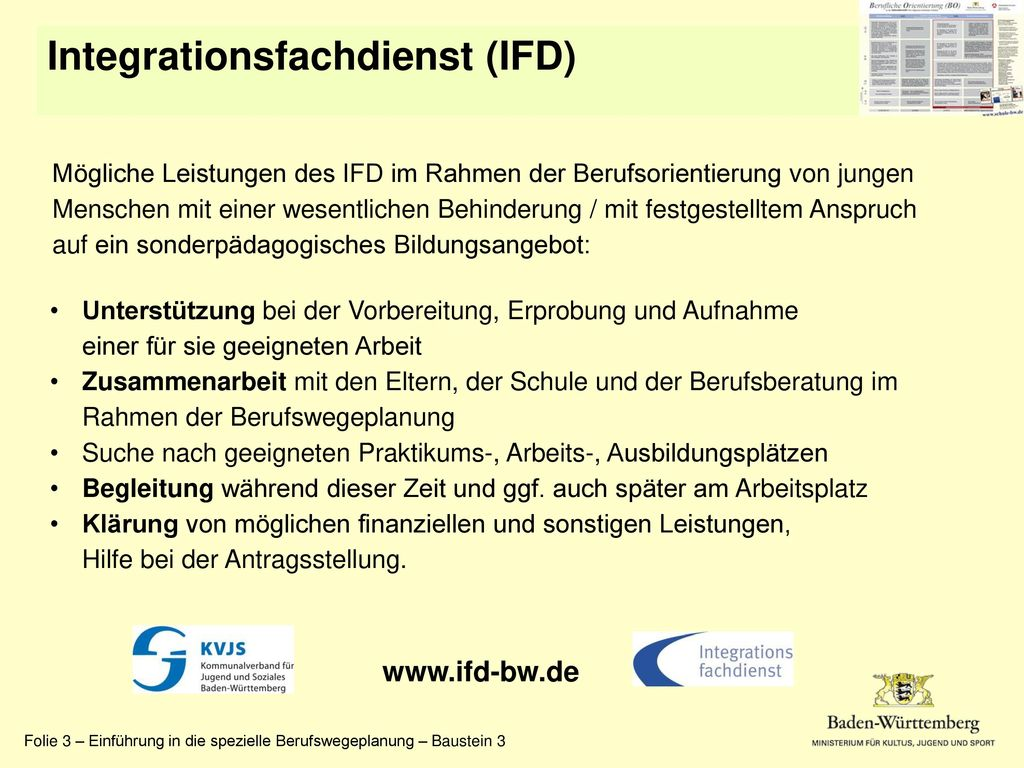Integrationsfachdienst (IFD)