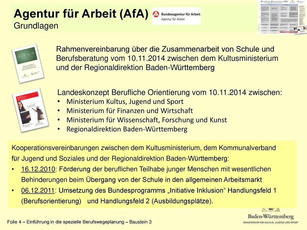 Agentur für Arbeit (AfA) Grundlagen