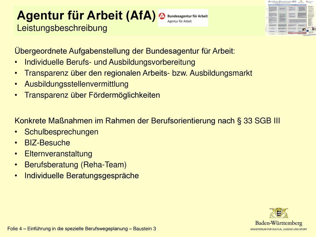 Agentur für Arbeit (AfA)