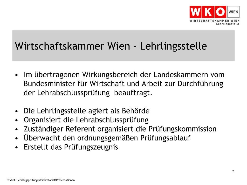 Wirtschaftskammer Wien - Lehrlingsstelle