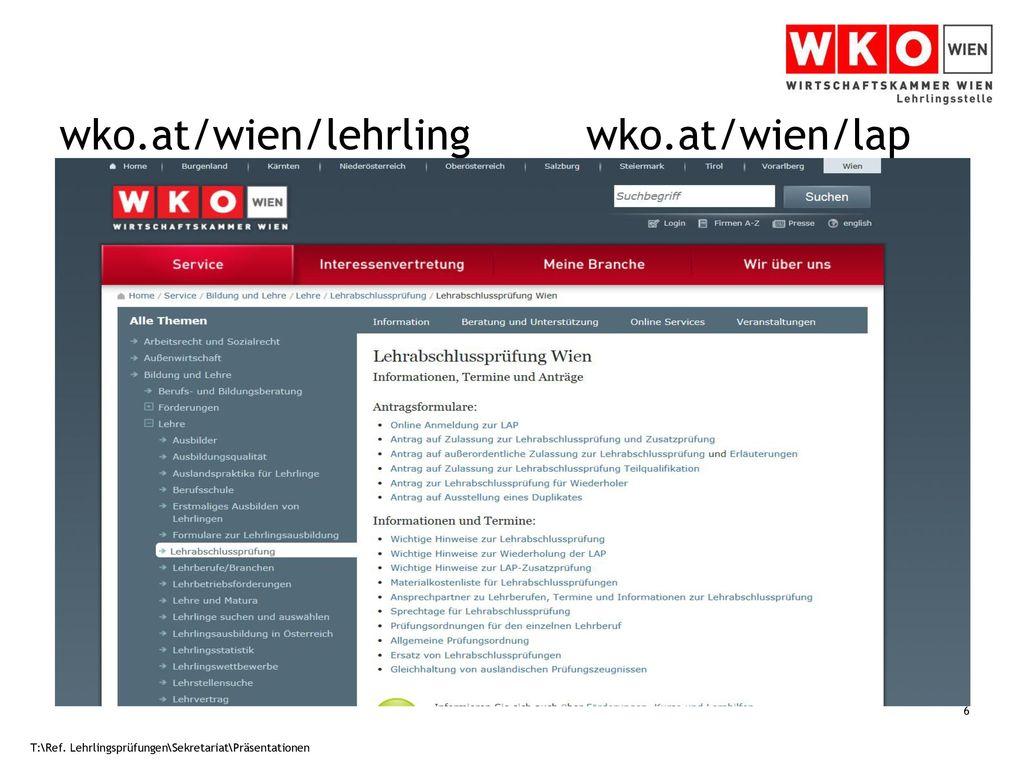 wko.at/wien/lehrling wko.at/wien/lap