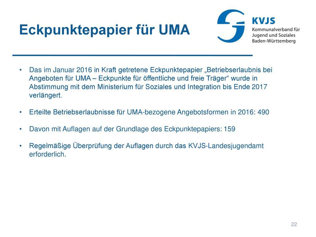 Eckpunktepapier für UMA