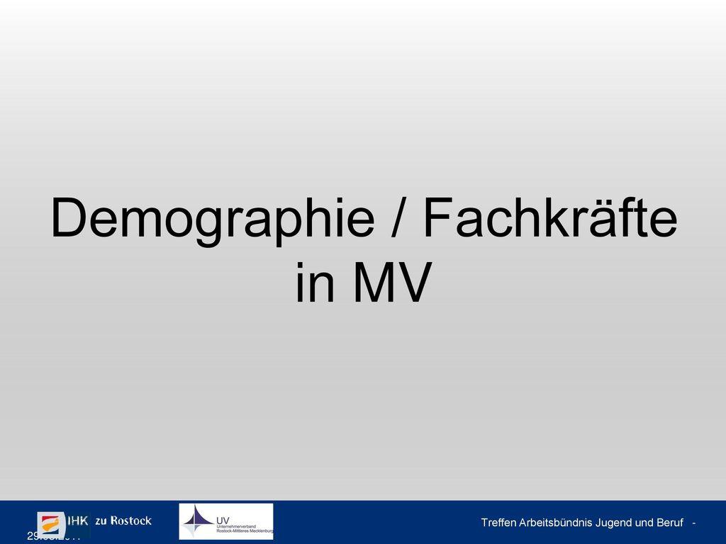 Demographische Herausforderungen in M-V