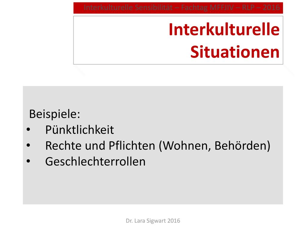 Interkulturelle Situationen