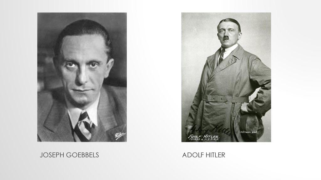 Joseph Goebbels Adolf Hitler