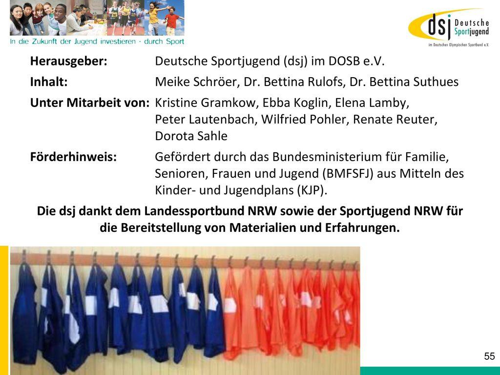 Herausgeber: Deutsche Sportjugend (dsj) im DOSB e.V.