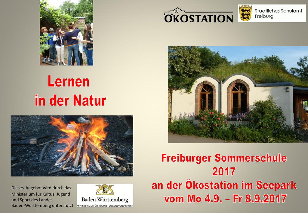 Lernen in der Natur Freiburger Sommerschule 2017