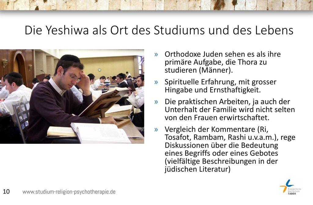 Die Yeshiwa als Ort des Studiums und des Lebens