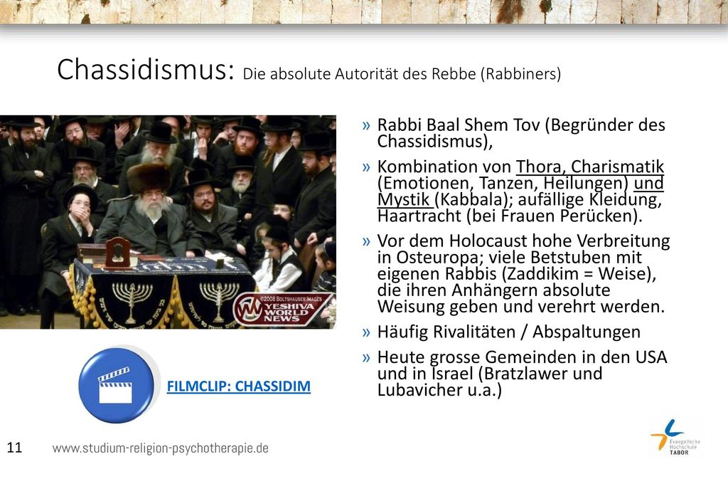 Chassidismus: Die absolute Autorität des Rebbe (Rabbiners)