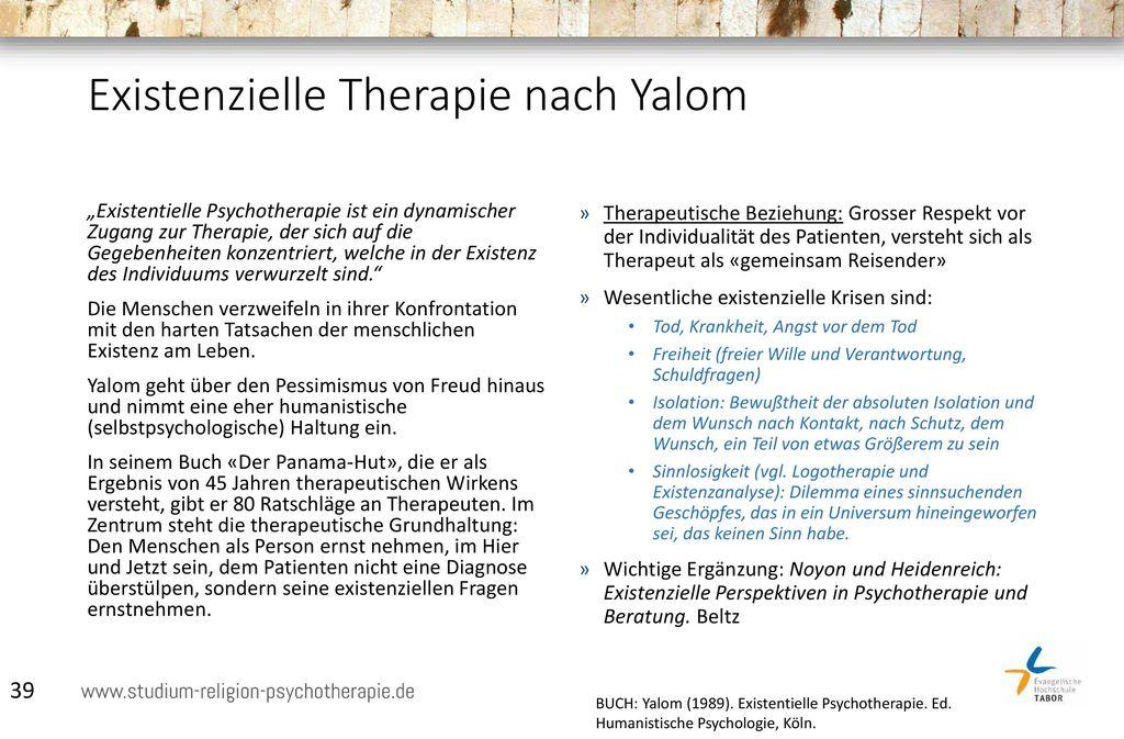 Existenzielle Therapie nach Yalom