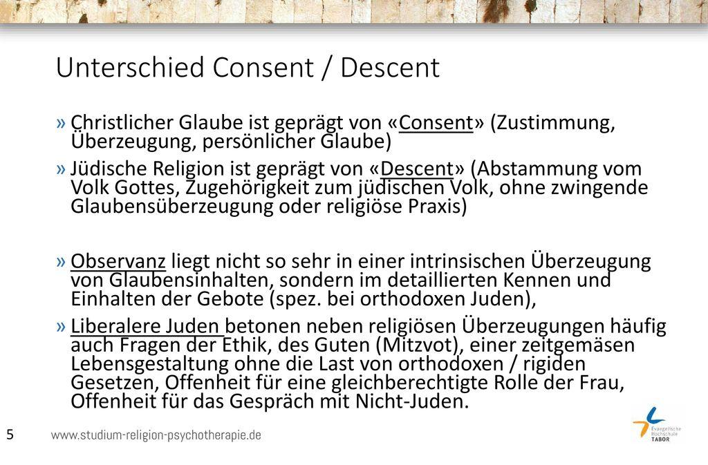 Unterschied Consent / Descent