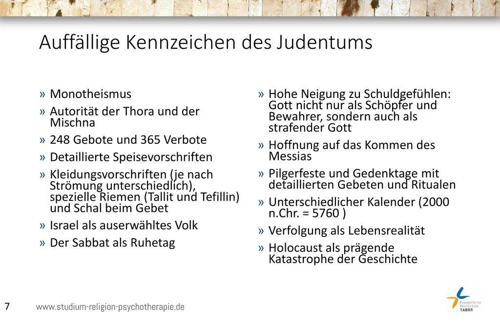 Auffällige Kennzeichen des Judentums