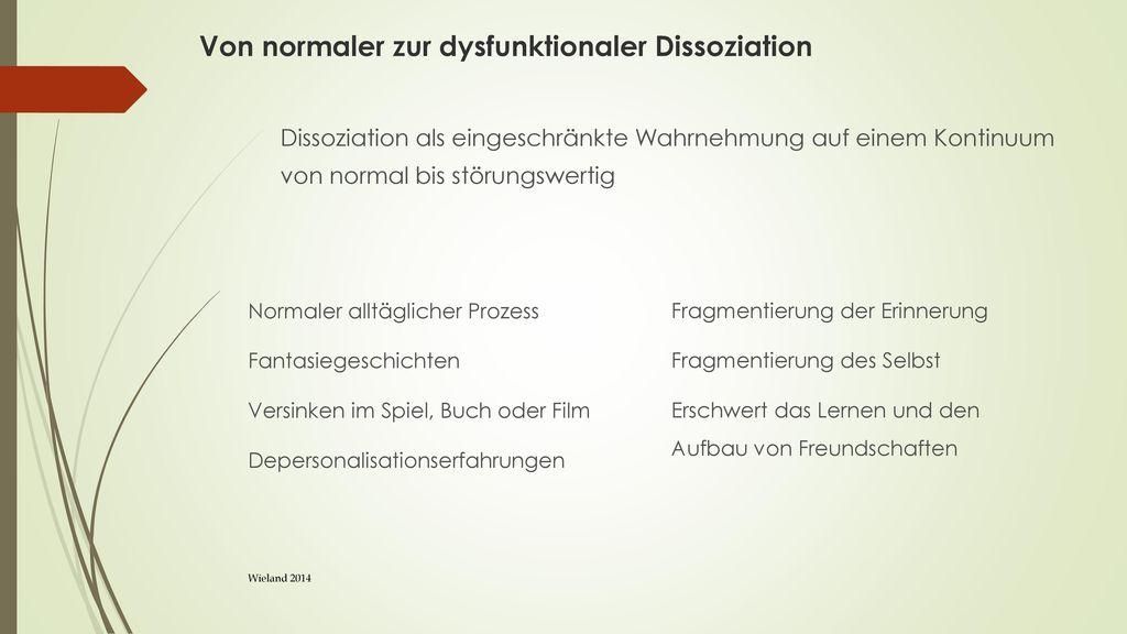 Von normaler zur dysfunktionaler Dissoziation