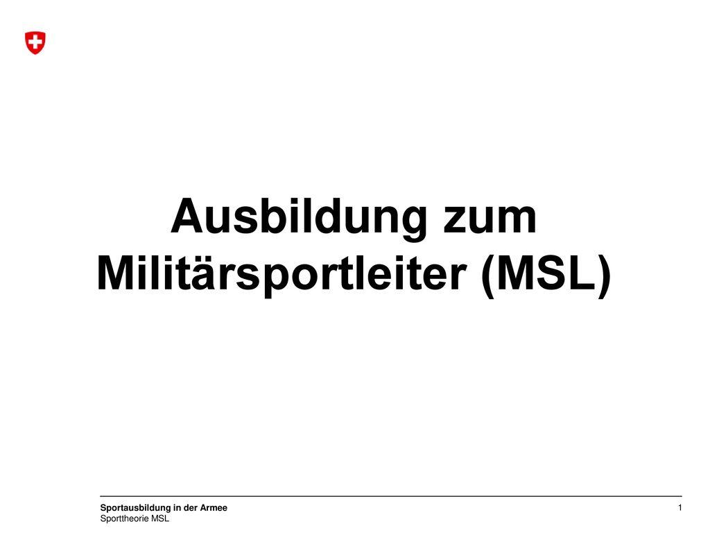 Ausbildung zum Militärsportleiter (MSL)