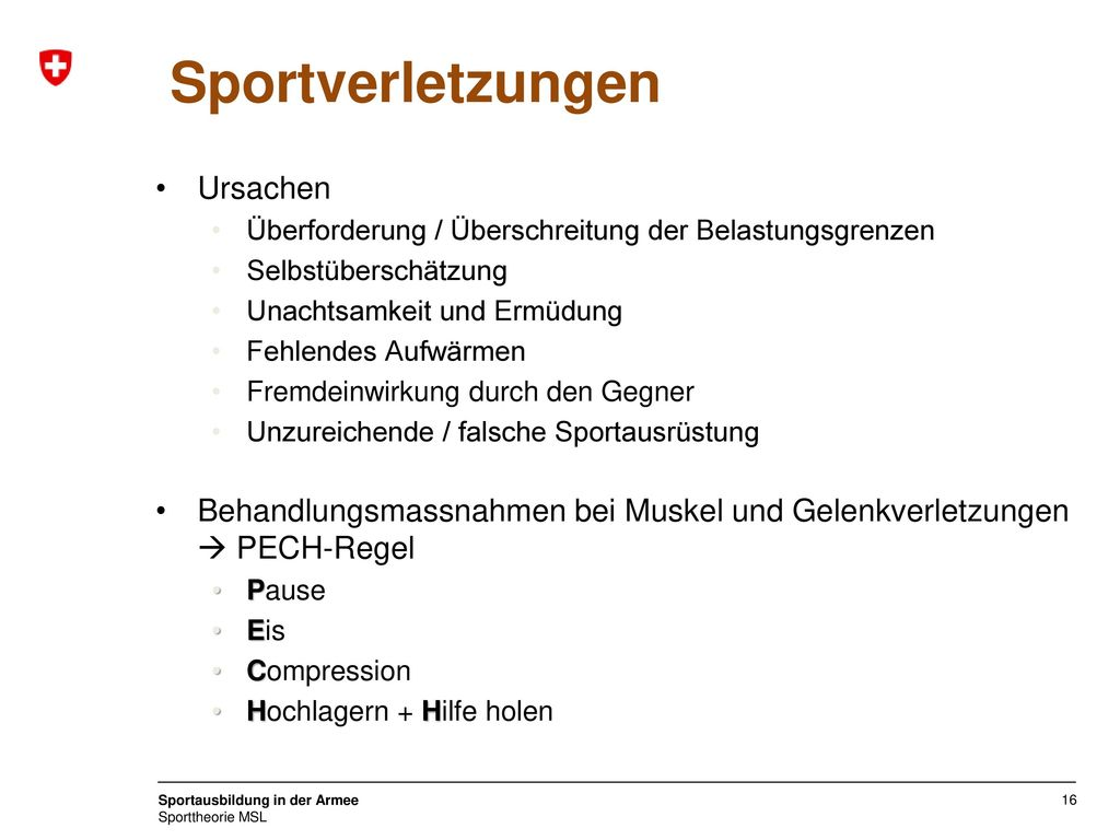 Sportverletzungen Ursachen