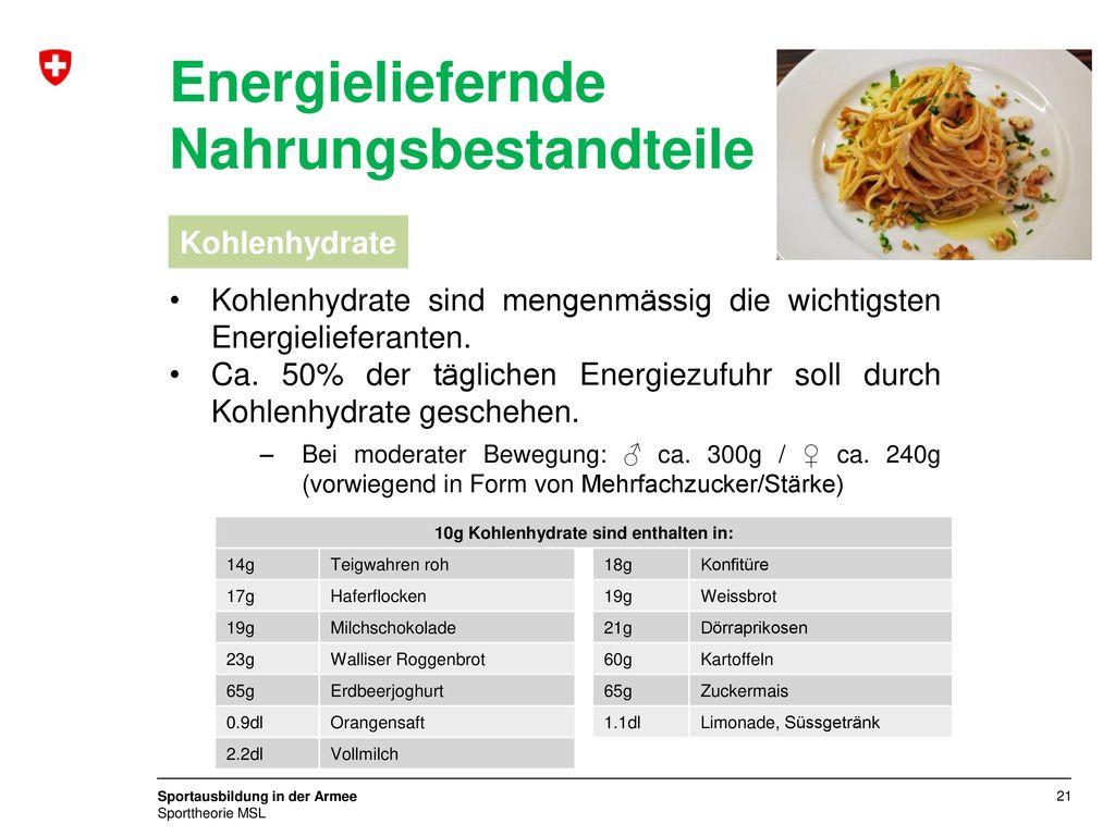 10g Kohlenhydrate sind enthalten in: