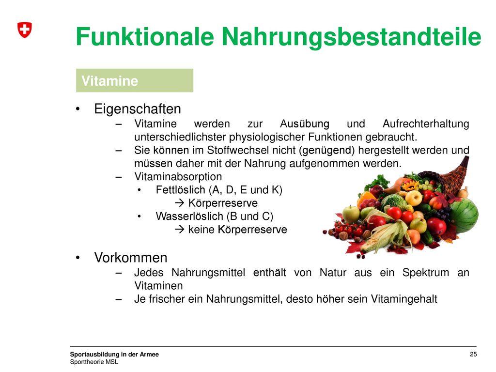 Funktionale Nahrungsbestandteile