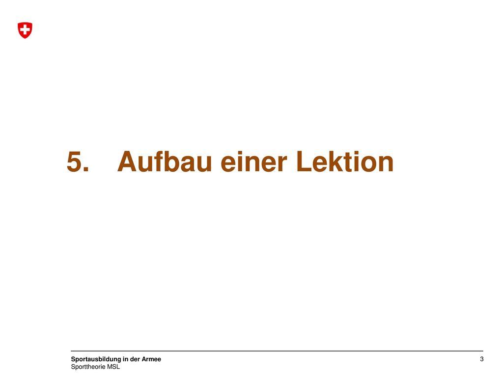 5. Aufbau einer Lektion