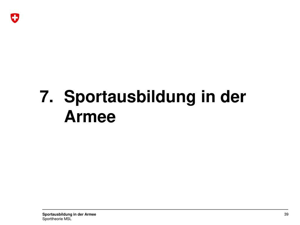 Sportausbildung in der Armee