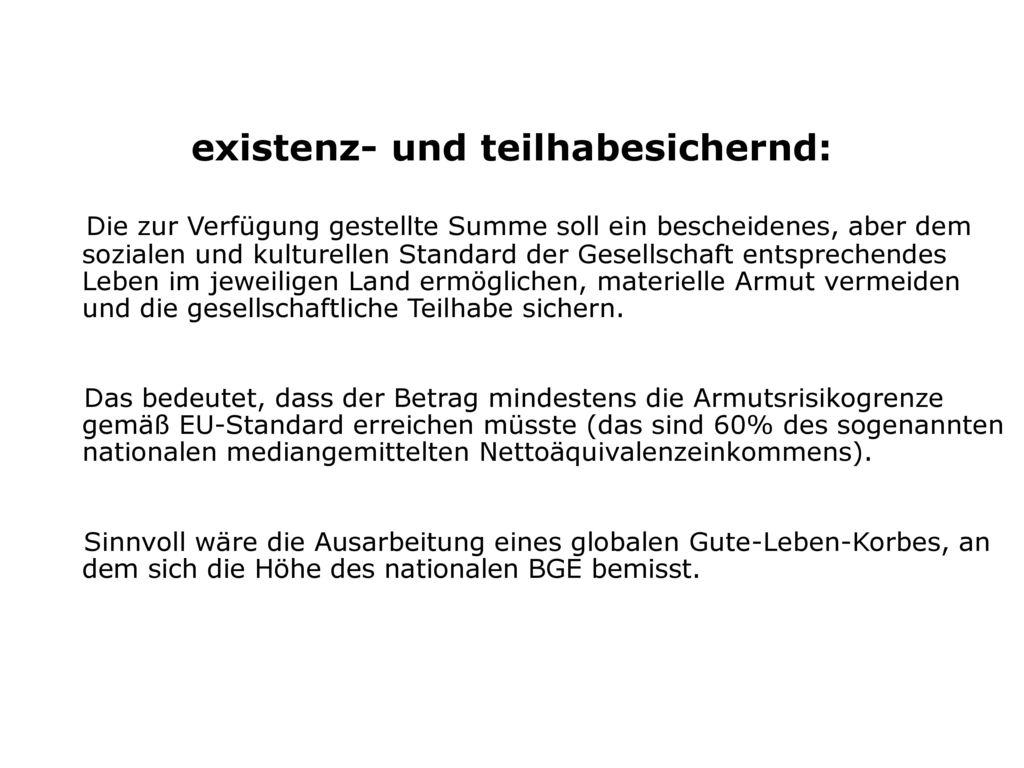 existenz- und teilhabesichernd: