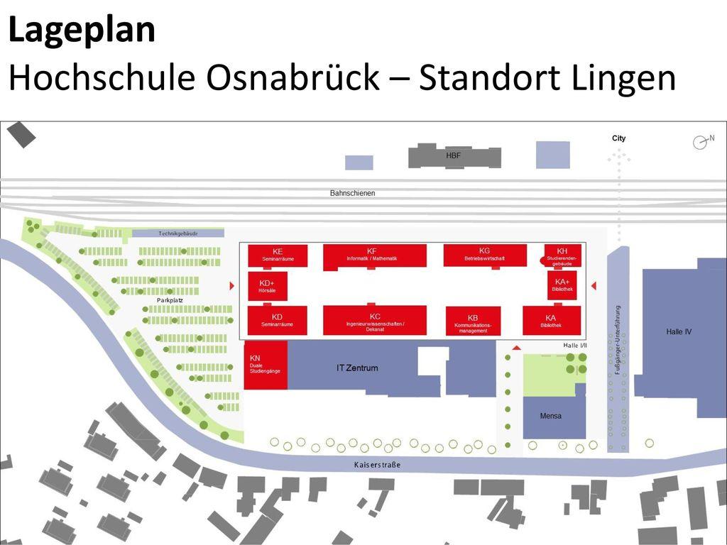 Lageplan Hochschule Osnabrück – Standort Lingen