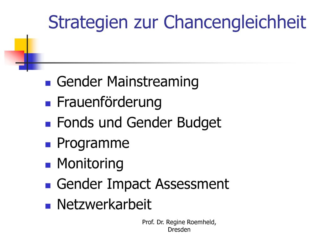 Strategien zur Chancengleichheit