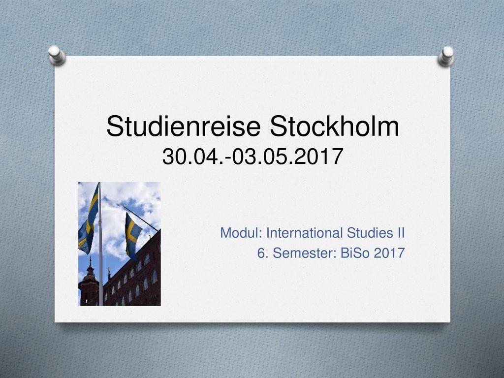 Studienreise Stockholm 30.04.-03.05.2017